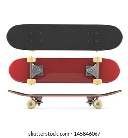 Skateboard isolated on white background