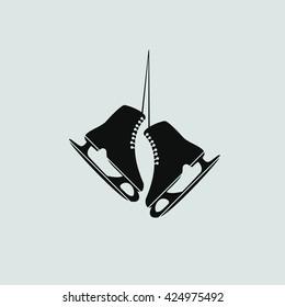 The skates icon. Figure skates symbol.