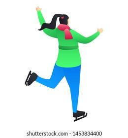 Skating icon. Isometric illustration of skating icon for web design isolated on white background
