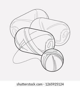 Skein of yarn icon line element.  illustration of skein of yarn icon line isolated on clean background for your web mobile app logo design.