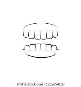 skeleton, bone, skull 4 icon. Element of dantist for mobile concept and web apps illustration. Hand drawn icon for website design and development, app development