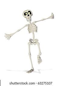 skeleton cartoon running