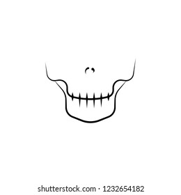 skeleton, dental icon. Element of dantist for mobile concept and web apps illustration. Hand drawn icon for website design and development, app development
