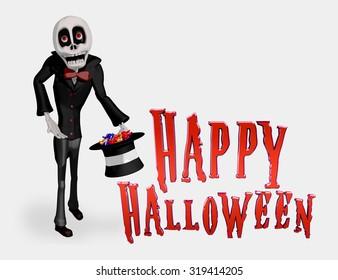 Skeleton Happy Halloween