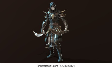 Skeleton, render 3D model on the background