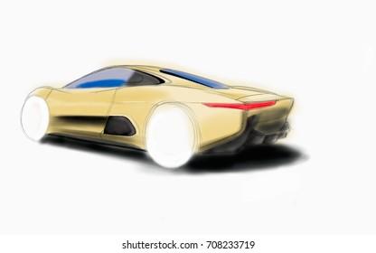 Jaguar Race Car Stock Illustrations Images Vectors Shutterstock