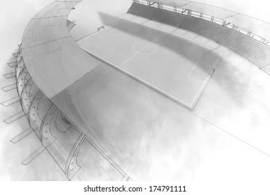 Sketch football sstadium