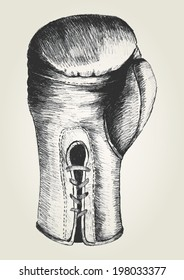 Sketch illustration of a boxing glove