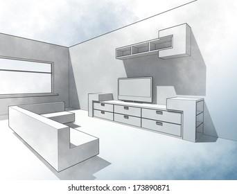 Sketch living room