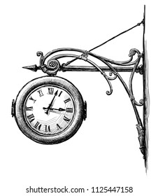 Sketch of an old street clock