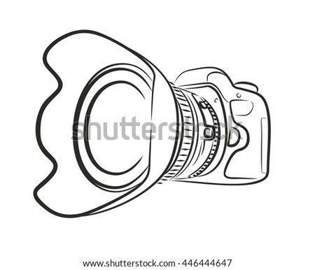 Royalty Free Stock Illustration Of Sketch Professional Camera Stock