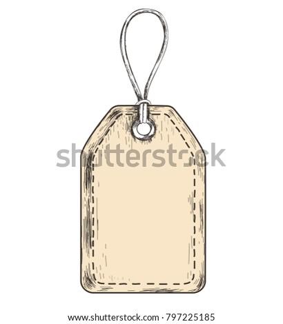 sketch tag sales label template goods stock illustration 797225185