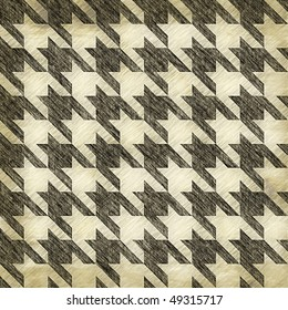 A sketched or worn looking hounds tooth pattern that tiles seamlessly in any direction.