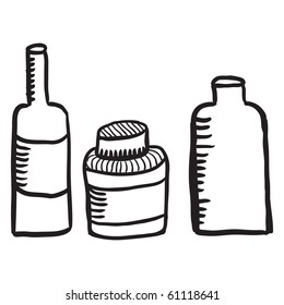 sketches of bottles