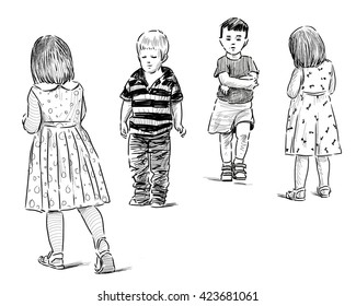 sketches of the little kids