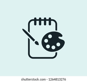 Sketchpad icon line isolated on clean background. Sketchpad icon concept drawing icon line in modern style.  illustration for your web mobile logo app UI design.
