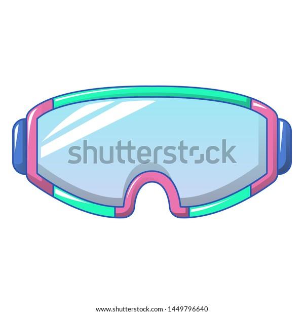 Ski goggles icon. Cartoon of ski goggles icon for web design isolated on white background