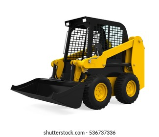 Skid-steer Loader. 3D rendering