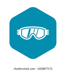 Skiing mask icon in simple style isolated illustration