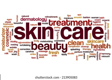 Skin care concept word cloud background