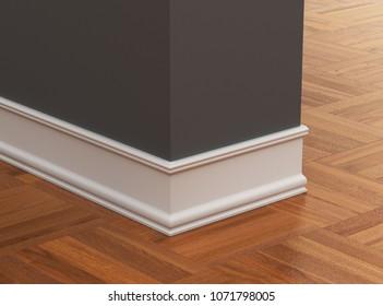 skirting board. 3d illustration