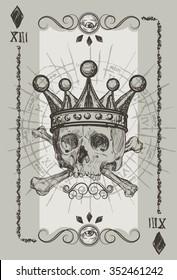 Skul l Playin Card Suit illustration