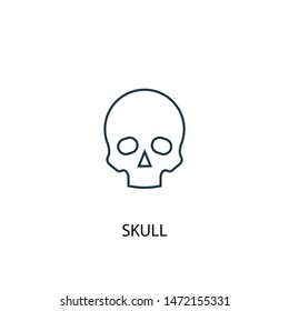 skull concept line icon. Simple element illustration. skull concept outline symbol design. Can be used for web and mobile UI/UX