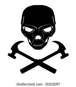 Skull and cross hammers
