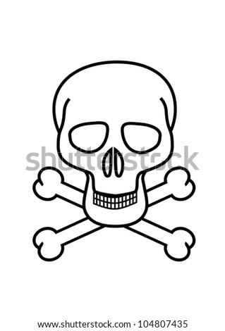 Skull Crossbones Symbol No White Background Stock Illustration