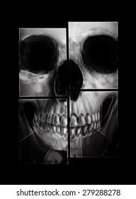 Skull dark illustration.T-shirt Graphics.illuminati art design