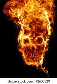 fire skull images stock photos vectors shutterstock