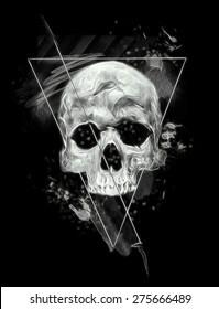 Skull IllustrationT Shirt Graphicsilluminati Design