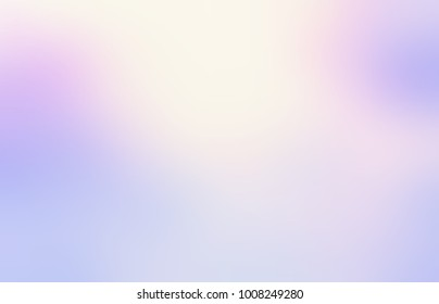 Sky light defocus empty background. Golden glow. Lavender heaven abstract texture. Pink, blue, violet blurred illustration. Iridescent delicate colors.