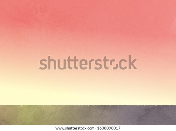 Sky Watercolor Illustrations | at about sunset