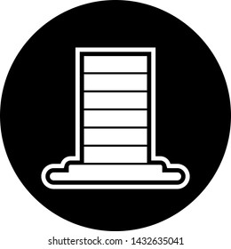 Skycraper Icon In Trendy Style Isolated Background