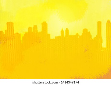 Skylight sight view city illustration, background, wallpaper, poster. Image dimensions : 4060x2900px, 300dpi high resolution .jpg image, printable, ready to print.