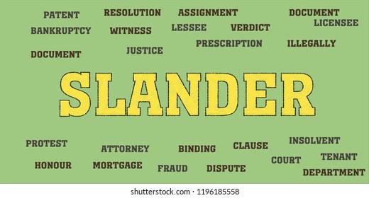 slander Words and tags cloud.