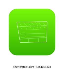 Slapstick icon green isolated on white background