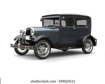 Slate grey great 1920 vintage car - 3D Render
