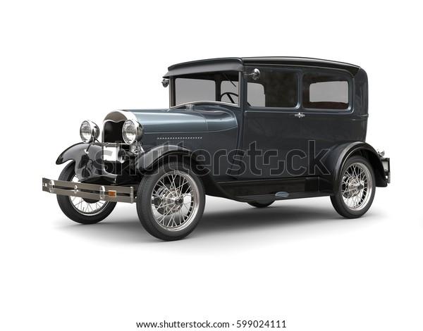 Slate grey great 1920 vintage car - 3D Render
