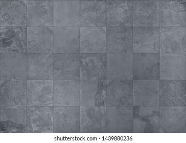 Slate natural stone tile, seamless texture illustration
