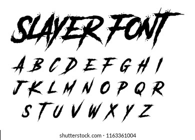slayer font alphabet