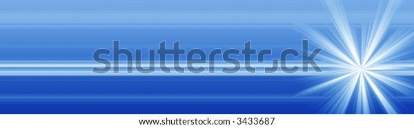 A sleek blue banner illustration.