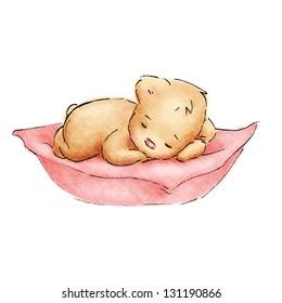 Sleeping Baby Bear