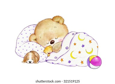 Sleeping Teddy bear