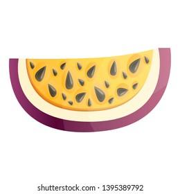 Slice maracuja icon. Cartoon of slice maracuja icon for web design isolated on white background