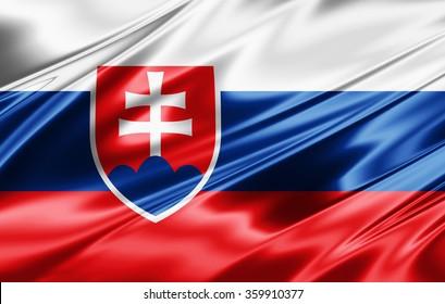 Slovakia flag of silk