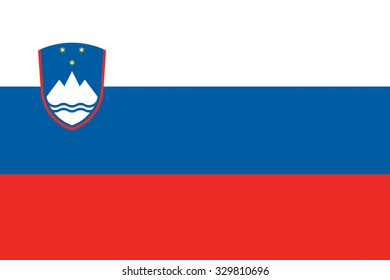 Slovenia flag background illustration of european country
