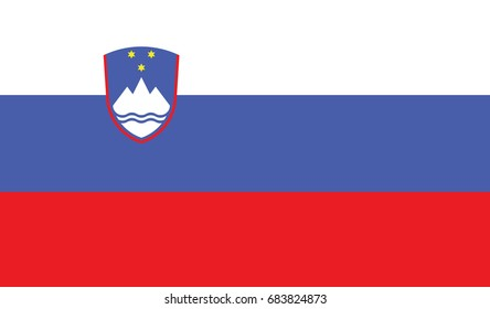 Slovenia national flag background