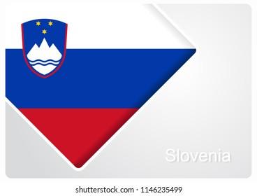 Slovenian flag design background layout. Raster version.